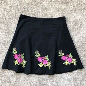 Vintage 90s Betsey Johnson black floral skirt, 4